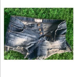 Free People Mid Rise Cheeky Jean  Shorts 28